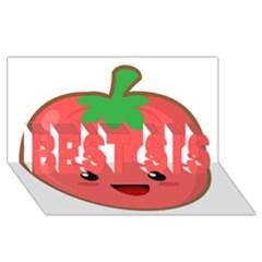 Kawaii Tomato Best Sis 3d Greeting Card (8x4)