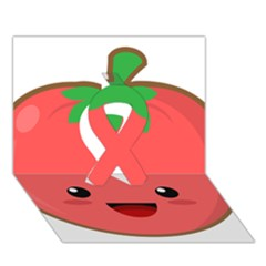 Kawaii Tomato Ribbon 3d Greeting Card (7x5)