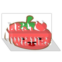 Kawaii Tomato Best Wish 3d Greeting Card (8x4)