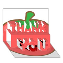 Kawaii Tomato Thank You 3d Greeting Card (7x5)