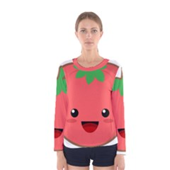 Kawaii Tomato Women s Long Sleeve T-shirts