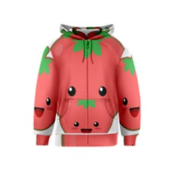 Kawaii Tomato Kids Zipper Hoodies