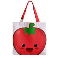 Kawaii Tomato Zipper Grocery Tote Bags