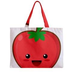 Kawaii Tomato Zipper Tiny Tote Bags