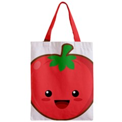Kawaii Tomato Zipper Classic Tote Bags