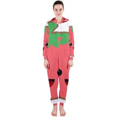 Kawaii Tomato Hooded Jumpsuit (Ladies)