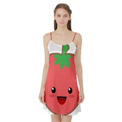 Kawaii Tomato Satin Night Slip