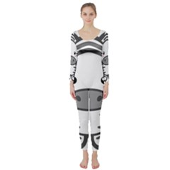 Kawaii Zebra Long Sleeve Catsuit
