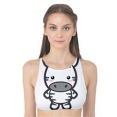 Kawaii Zebra Tank Bikini Top