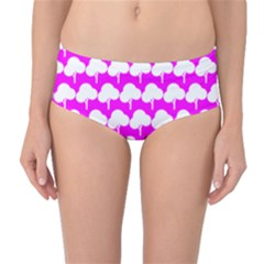 Tree Illustration Gifts Mid-Waist Bikini Bottoms
