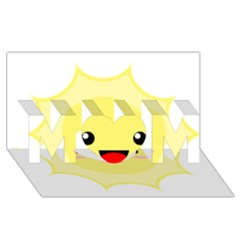 Kawaii Sun MOM 3D Greeting Card (8x4)