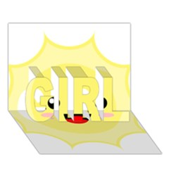 Kawaii Sun GIRL 3D Greeting Card (7x5)