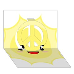 Kawaii Sun Peace Sign 3d Greeting Card (7x5)