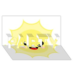 Kawaii Sun PARTY 3D Greeting Card (8x4)