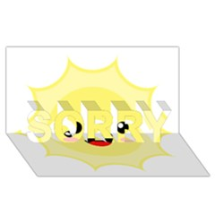 Kawaii Sun SORRY 3D Greeting Card (8x4)