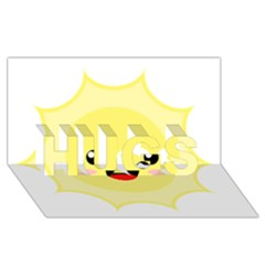 Kawaii Sun HUGS 3D Greeting Card (8x4)
