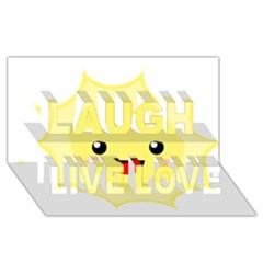 Kawaii Sun Laugh Live Love 3D Greeting Card (8x4)