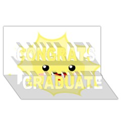 Kawaii Sun Congrats Graduate 3d Greeting Card (8x4)
