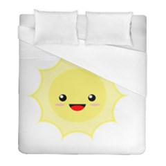 Kawaii Sun Duvet Cover Single Side (twin Size)