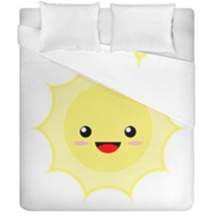 Kawaii Sun Duvet Cover (double Size)