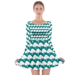 Tree Illustration Gifts Long Sleeve Skater Dress