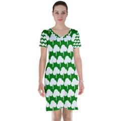 Tree Illustration Gifts Short Sleeve Nightdresses