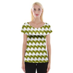 Tree Illustration Gifts Women s Cap Sleeve Top