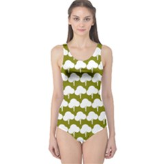 Tree Illustration Gifts Women s One Piece Swimsuits