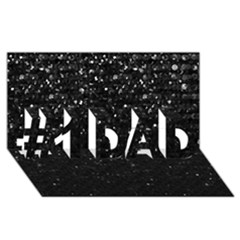 Crystal Bling Strass G283 #1 DAD 3D Greeting Card (8x4)