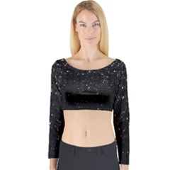 Crystal Bling Strass G283 Long Sleeve Crop Top