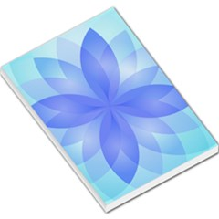 Abstract Lotus Flower 1 Large Memo Pads