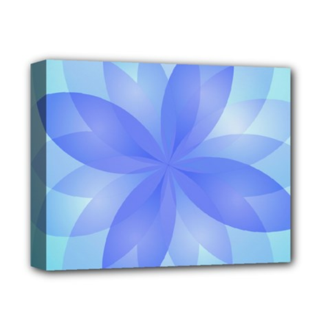 Abstract Lotus Flower 1 Deluxe Canvas 14  x 11