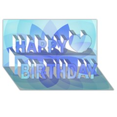 Abstract Lotus Flower 1 Happy Birthday 3D Greeting Card (8x4)