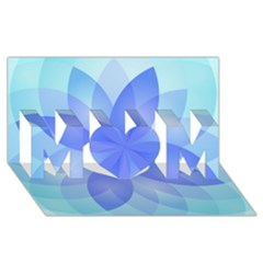 Abstract Lotus Flower 1 Mom 3d Greeting Card (8x4)