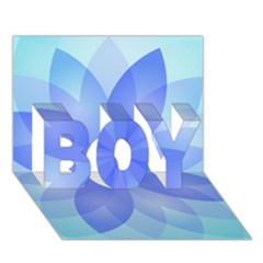 Abstract Lotus Flower 1 Boy 3d Greeting Card (7x5)