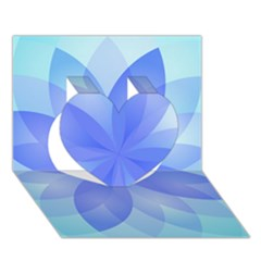 Abstract Lotus Flower 1 Heart 3d Greeting Card (7x5)
