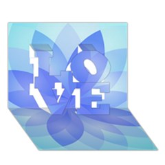 Abstract Lotus Flower 1 Love 3d Greeting Card (7x5)