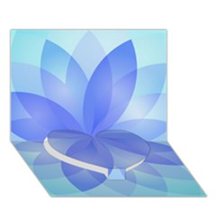 Abstract Lotus Flower 1 Heart Bottom 3D Greeting Card (7x5)