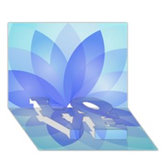 Abstract Lotus Flower 1 LOVE Bottom 3D Greeting Card (7x5)