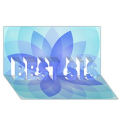 Abstract Lotus Flower 1 Best Sis 3d Greeting Card (8x4)