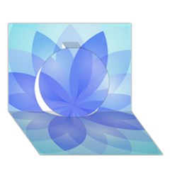 Abstract Lotus Flower 1 Circle 3D Greeting Card (7x5)