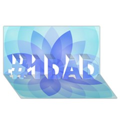 Abstract Lotus Flower 1 #1 DAD 3D Greeting Card (8x4)