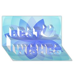 Abstract Lotus Flower 1 Best Wish 3d Greeting Card (8x4)