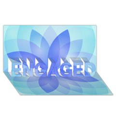 Abstract Lotus Flower 1 Engaged 3d Greeting Card (8x4)