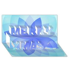 Abstract Lotus Flower 1 Merry Xmas 3D Greeting Card (8x4)