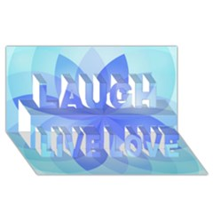 Abstract Lotus Flower 1 Laugh Live Love 3d Greeting Card (8x4)