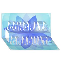 Abstract Lotus Flower 1 Congrats Graduate 3D Greeting Card (8x4)
