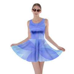 Abstract Lotus Flower 1 Skater Dresses