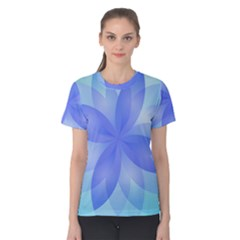 Abstract Lotus Flower 1 Women s Cotton Tees