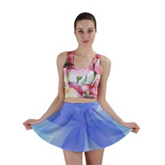 Abstract Lotus Flower 1 Mini Skirts